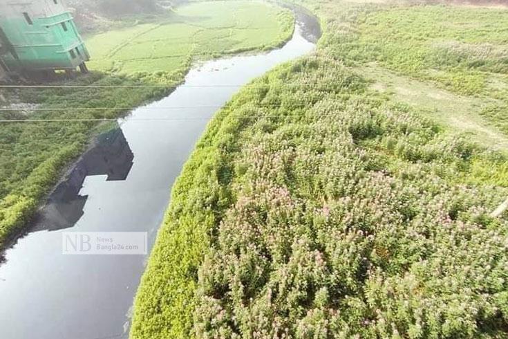 দখল-দূষণে মৃত উত্তাল খিরু নদী