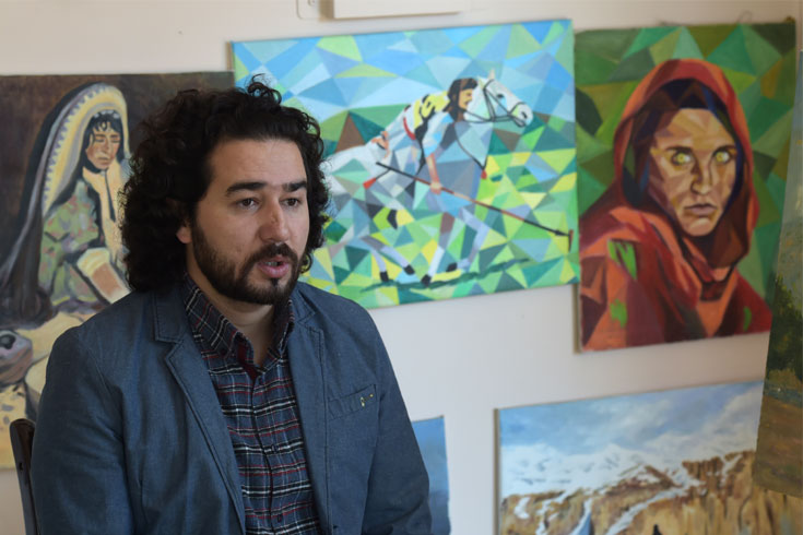 তালেবান কাবুলকে কাফনের কাপড়ে মুড়ে দিচ্ছে: আফগান শিল্পী