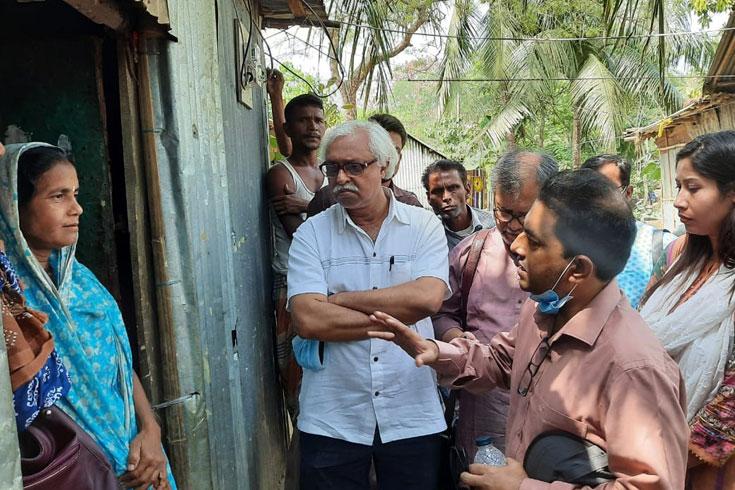 শাল্লার হিন্দু গ্রামে নাগরিক প্রতিনিধিরা