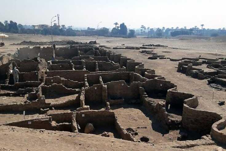 মিসরে তিন হাজার বছর আগের শহর আবিষ্কার