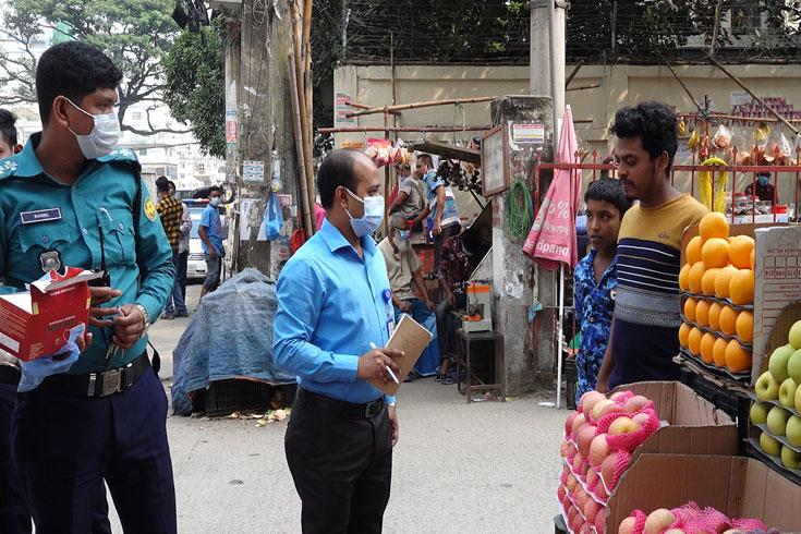 স্বাস্থ্যবিধি অমান্য: ভোলায় ৪২ জনকে জরিমানা