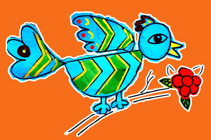 নীলচে পাখি লেজ ঝোলা