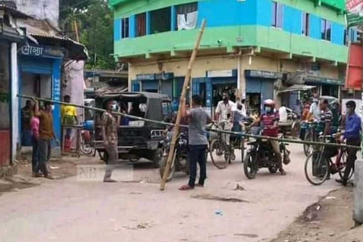 নওয়াপাড়ার ৩ ওয়ার্ড অবরুদ্ধ, সড়কে ব্যারিকেড