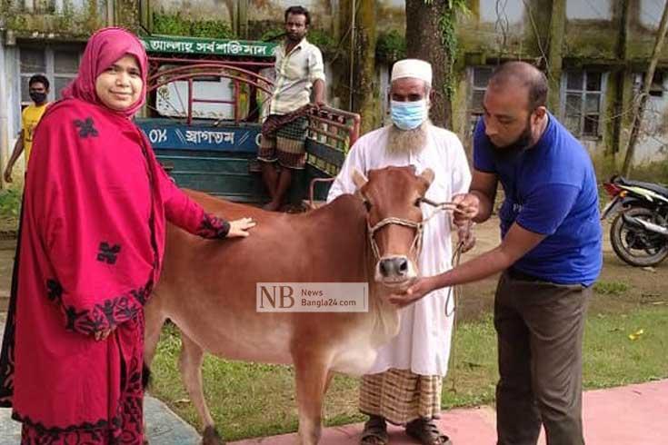 সোহাগপুরের বিধবাপল্লিতে কোরবানি