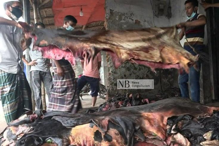 চামড়ার 'ন্যায্যমূল্য' পাচ্ছেন না বিক্রেতা