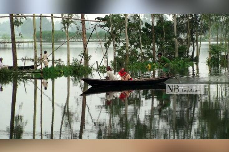 তিন নদীর পানি বেড়ে টাঙ্গাইলে বন্যা পরিস্থিতির অবনতি