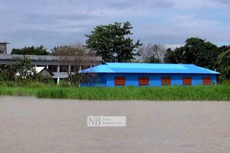 ফরিদপুরে ৪৯ স্কুলে বন্যার পানি, পাঠদান নিয়ে অনিশ্চয়তা