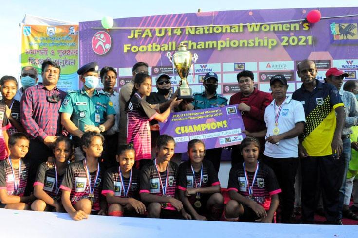 জেএফএ অনুর্ধ্ব ১৪ নারী ফুটবলের শিরোপা মাগুরার