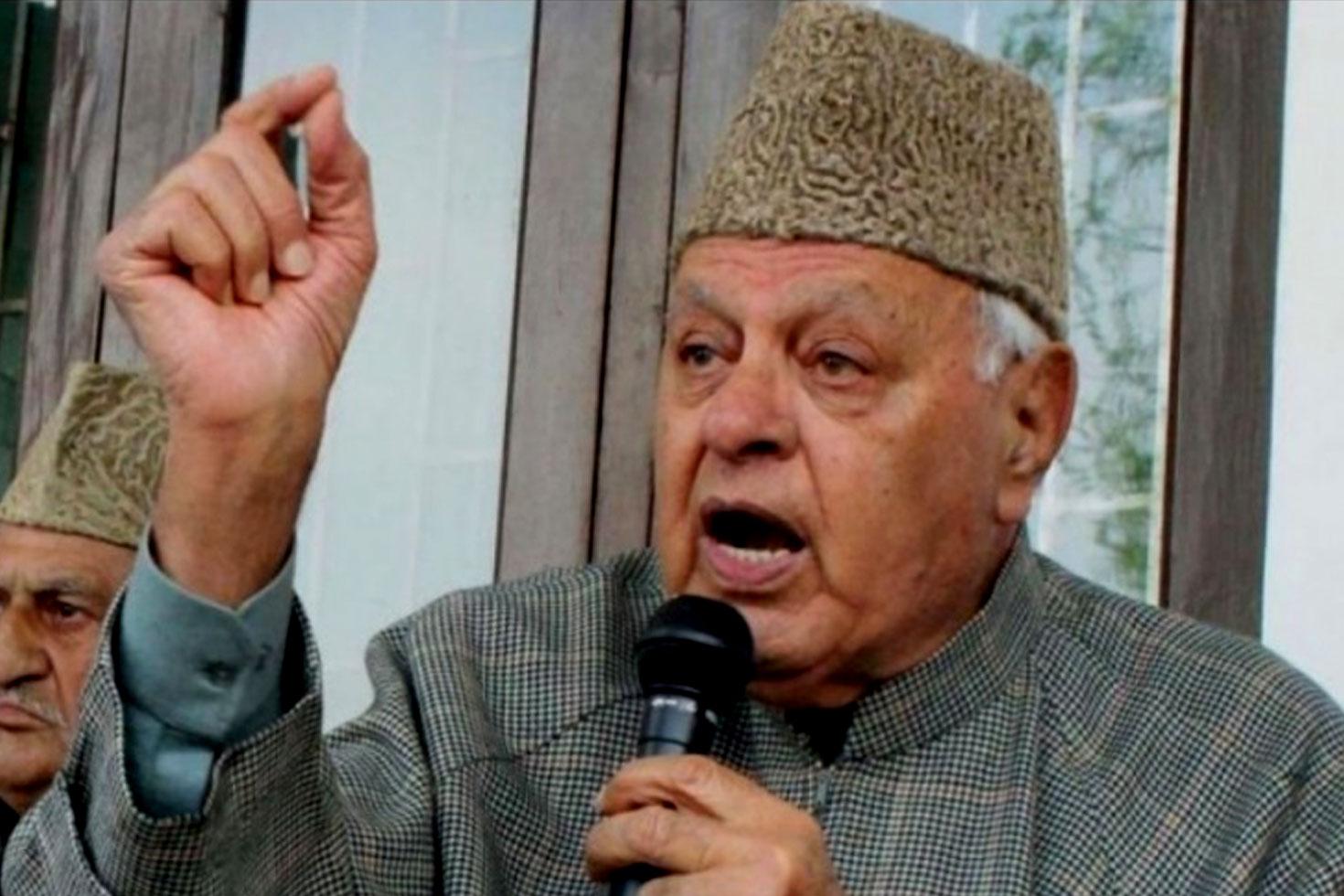 বেসামরিক হত্যায় কাশ্মীরি জড়িত নয়: ফারুক আব্দুল্লাহ