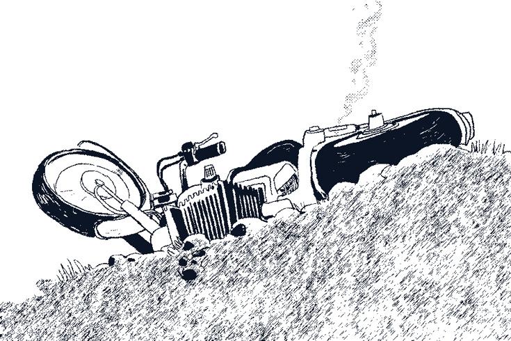 সেতুর রেলিংয়ে মোটরসাইকেলের ধাক্কায় চালক নিহত